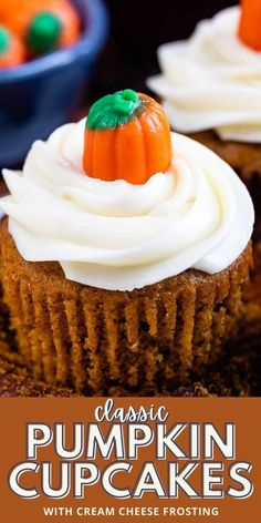ASY Pumpkin Cupcakes with cream cheese icing is one of the best recipes for fall baking. These cupcakes are from scratch and super moist with the best frosting! Best Dessert Recipes, Cupcake Recipes, Fall Recipes, Sweet Recipes, Baking Recipes, Pumpkin Recipes, Pumpkin Pie Mix, Pumpkin Spice Cupcakes, Pumpkin Dessert