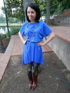 Frumpy dress into a cute top #3