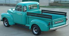 This 1953 Chevrolet 3100 was a base model that began to be one of American's favorite pick up trucks. As more jobs and business started to boom, people started to buy these affordable trucks. They were affordable and were very common to see in the Vintage Pickup Trucks, Classic Pickup Trucks, Antique Trucks, New Trucks, Custom Trucks, Cool Trucks, Cool Cars, Vintage Cars, Lifted Trucks