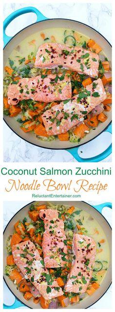 Coconut Salmon Zucch