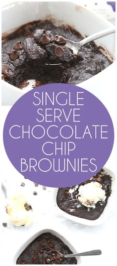 Easy low carb, grain-free brownies for one. Make this single serve brownie recipe when the chocolate cravings hit. They whip up in less than 20 minutes.