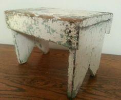 Primitive Stool Old Paint