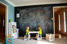painting chalkboard in kids playroom good idea - Google Search