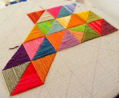 Great use of leftover threads..... by Smallest Forest, via Flickr