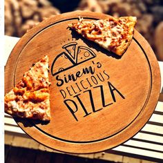 Pizza Hot | Personalized Wooden Pizza Serving Board, Rustic, Gift, Name, Engraved, Decorative, Board, Platter, Kitchen Snack Platter, Snack Bowls, Wood Pizza, Serving Board, Cooking Oil, Wood Slices, Handmade Wooden, Food Grade, Safe Food