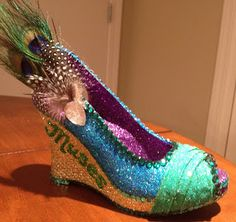 Peacock shoe (Confessions of a glitter addict: 2013 Shoes - The Complete Set)