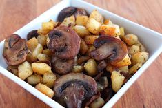 Oven Roasted Potatoes & Mushrooms
