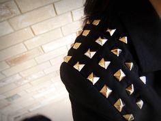 Studded shoulders