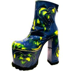 439d644d86e Vintage Luichiny Ultra Glam Heart Mega Platform Boots from Spain Womans  size 9