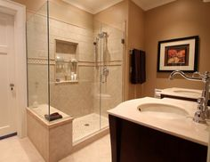 Master Bathrooms Without Bathtubs crown-molding-built-in-entertainment-center-l-3564425e610eb166