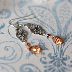 everlasting moments sterling silver earrings in champagne  $26.99