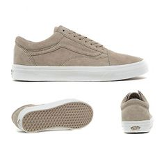 0a5ed91466 Vans Old Skool Trainers in Humus and White. Back on board with the addition  of a pig suede upper