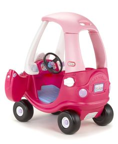Little Tikes Pink Cozy Coupe Kids Fun Ride On Toy Car Toddler Stroller Princess