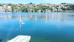 #Messina#lake#ganzirri#blue#sailboat#remotecontrolled#sicily#sun by santi.cannavo