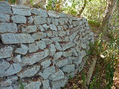 Rubble Wall made of salvaged concrete by chucknaradphotography, via Flickr  Recycled concrete