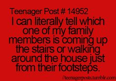 Omg I thought I was the only one! It helps me prepare to hide my gadget if they come up the stairs to check on me!!
