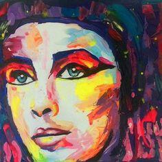 Elizabeth Taylor as Cleopatra  #elizabethtaylor #cleopatra #art_empire #art_help #art_spotlight #art #art_sharing #art_support #art #artist #artwork #colorful #creative #portrait #acrylic #acrylicpainting #francoiseniellyart #francoisenielly #francoiseniellyinspired #painting #paletteknifepainting #paletteknifeart