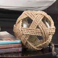 Abaca Wrapped Recycled Glass Ball