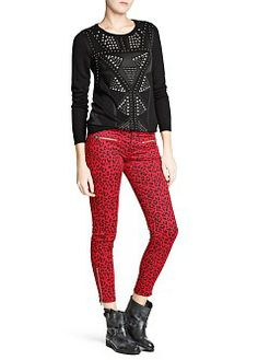 MANGO - CLOTHING - Cardigans and sweaters - Stud pattern sweater