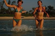 Goa, Glücklichsein, blauer Himmel, Wolken, Strand