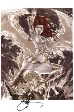 Jean Grey, Phoenix of the White Crown by Eric Basaldua