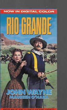 RIO GRANDE John Wayne & Maureen O'Hara  VHS Color Western