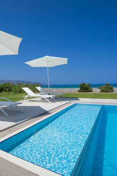 Beach villas are two seafront, modern 4-bedroom villas each with a private pool and lovely sea views, in front of the mixed sandy and shingle beach of Tavronitis, 25 km west of the picturesque town of Chania. #crete #greece #chania #summer #vacations #holiday #travel #sea #sun #sand #nature #landscape #island #TheHotelgr #rent #villas #apartments #nature #view  #holidays #travelling #instatravel #pool #pinterest #luxury #villa #apartment #urlaub #ferien #reisen #meerblick #aussicht #sommer