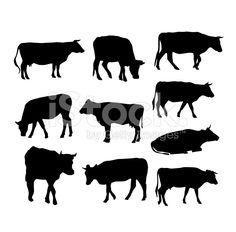 牛 シルエット - Google 検索