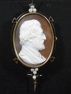 Antique 14K Gold Shell CAMEO Bearded Man Fabulous Details PIN Brooch Pendant in Jewelry & Watches, Vintage & Antique Jewelry, Fine, Victorian, Edwardian 1837-1910, Cameos   eBay