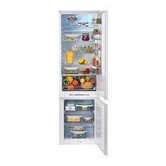 IKEA - HÄFTIGT, Jääkaappi-pakastin, integroit A++, 5 vuoden takuu. Lisätietoja ja takuuehdot takuuvihkosessa.5 siirrettävän, karkaistusta lasista valmistetun hyllylevyn ansiosta hyllyvälejä on helppo säätää tarpeen mukaan.Kiinteän puhaltimen ansiosta koko jääkaapin lämpötila pysyy tasaisena, minkä ansiosta erilaisia ruoka-aineita ei tarvitse säilyttää eri tasoilla.Pikajäähdytystoiminto viilentää elintarvikkeet nopeasti. Kätevä esimerkiksi silloin, kun on ostettu paljon kerralla.Pakastinta ei…