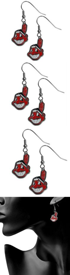 Cleveland Indians Chrome Dangle Earrings! Click The Image To Buy It Now or Tag Someone You Want To Buy This For. #ClevelandIndians