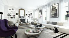 White-lounge-purple-armchairs-and-circle-marble-tables-also-mirror-then-floating-shelf-ornament-for-equipment-living-room-saint-germain-apartment.jpg (749×416)