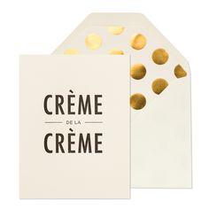 Crème de la Crème | Sugar Paper Los Angeles