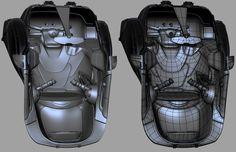 Robot Frog interior seat modeling