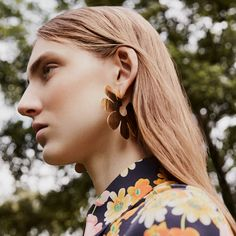 Make sure you're equipped for the new season with accessories that pack a punch. These oversized earrings from Simone Rocha will add a dose of flower power to any ensemble. Shop our FW17 edit. - @ www.mytheresa.com