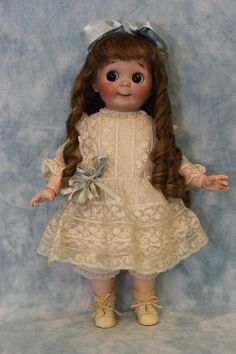 "16"" Antique 1910 JDK Kestner RARE #221 Googly Doll HUGE SIZE Brown Sleep Eyes"