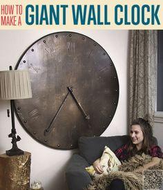 9. #métallique Style - 9 #incroyablement fantastique #bricolage grandes #horloges de mur... → DIY