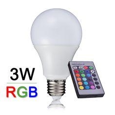 $4.78 (Buy here: https://alitems.com/g/1e8d114494ebda23ff8b16525dc3e8/?i=5&ulp=https%3A%2F%2Fwww.aliexpress.com%2Fitem%2FNew-Arrival-RGB-Led-Lamp-Light-E27-10W-220V-240V-Bombillas-Led-RGB-Bulb-With-Remote%2F32422653906.html ) New Arrival RGB LED Lamp Light E27 3W 110V 220V 240V Bombillas LED RGB Bulb With Remote Control Multiple Colour Lampara A65 for just $4.78