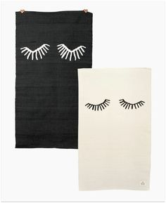 These rugs are perfect for a monochrome  kids room