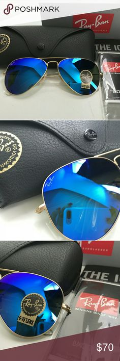 7ab86bad5f001 RAY-BAN AVIATOR 100% AUTHENTIC MIRRORED BLUE RAY-BAN AVIATOR BRAND NEW  NEVER USED 100% AUTHENTIC SIZE  58MM SAME OR NEXT DAY SHIPPING 😊 Ray-Ban  Accessories ...