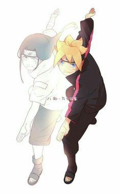 Neji, Boruto, text; Naruto