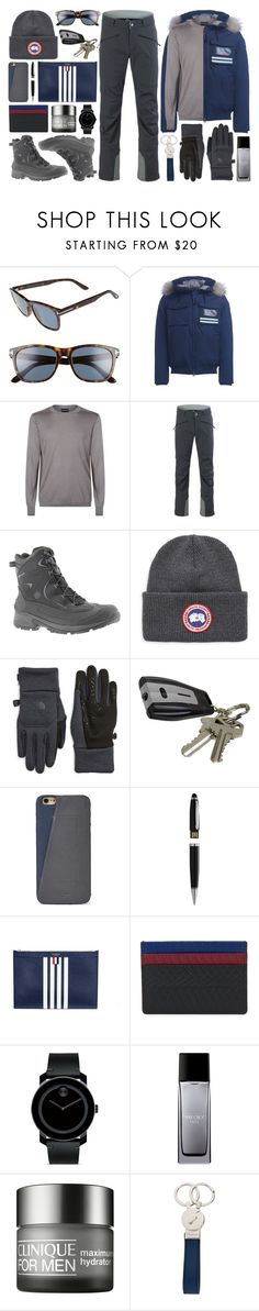 """""""★ 429: Whistler - Mark"""" by yuuurei ❤ liked on Polyvore featuring Tom Ford, Museum, Giorgio Armani, Strafe Outerwear, Columbia, Canada Goose, The North Face, J.B. Nifty, FOSSIL and Natico"""