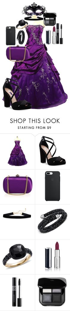 """Purple masquerade"" by iamgl2002 ❤ liked on Polyvore featuring Nina, Gucci, Swarovski, Pomellato, Givenchy, Christian Dior and Masquerade"