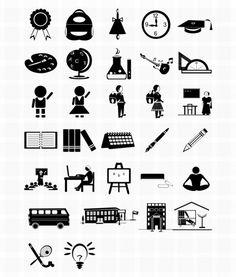 교육 테마 디자인 제작에 유용한 일러스트&포토샵 무료 아이콘 모음