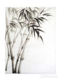 Watercolor Painting Of Bamboo Kunstdrucke von Surovtseva bei AllPosters.de