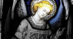 Angel Stained glass at All Saints Church Bloxwich, Walsall by Dan Slee Stained Glass Church, Stained Glass Angel, Archangel Uriel, Principles Of Art, Angels Among Us, Angels In Heaven, Catholic Art, Albrecht Durer, Angel Art