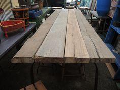 tavolo rustico assi da ponteggio