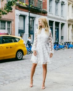 street style | Olympia Dress from BHLDN