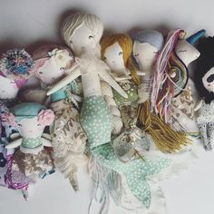 Handmade Dolls, fairies, mermaids, unicorns etc