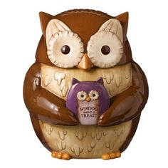 Crimson Hollow Owl Cookie Jar
